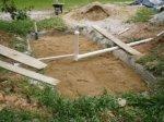 Quarta camada de preenchimento. Uso de areia média.